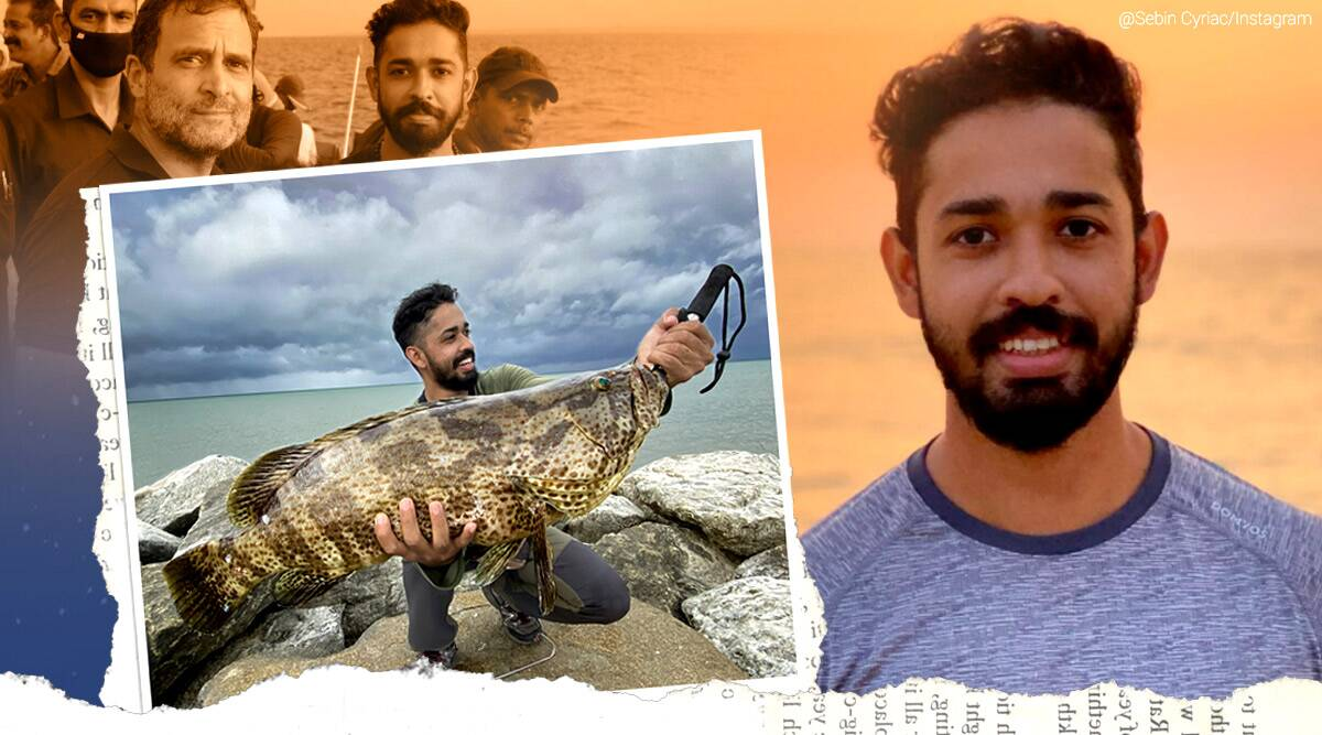 Sebin Cyriac, Kerala vlogger, Rahul Gandhi deep sea fishing adventure, Rahul Gandhi in Kerala, Kerala vlogger sebin cyriac, Kerala vlogger with rahul gandhi, Rahul Gandhi deep-sea fishing video, Sebin Cyriac Rahul Gandhi fishing video, Fishing freaks, Rahul Gandhi swim Arabian Sea, Rahul Gandhi fishing freaks, Rahul Gandhi fishing Kerala viral video, deep sea fishing videos, fishing freaks youtube channel deep sea fishing video, fishing freaks with Rahul Gandhi, Trending news, Indian Express news
