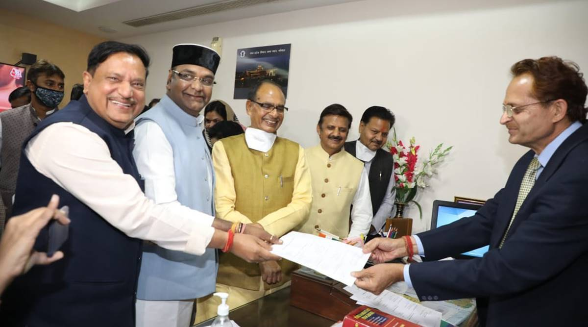 BJP MLA Girish Gautam files nomination for MP Speaker's post