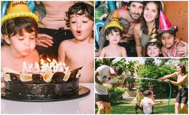 Sunny Leone family celebrate Asher and Noah 3rd birthday