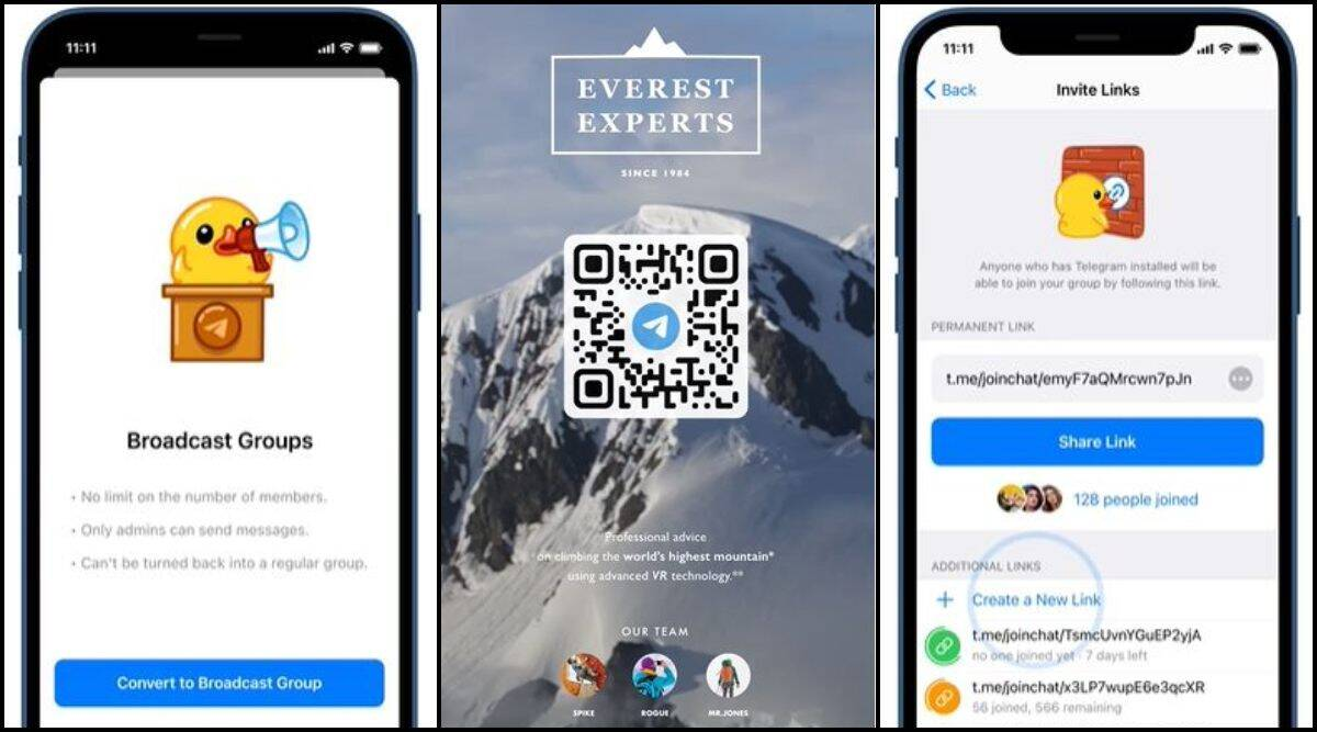Telegram, Telegram features, Telegram new features,
