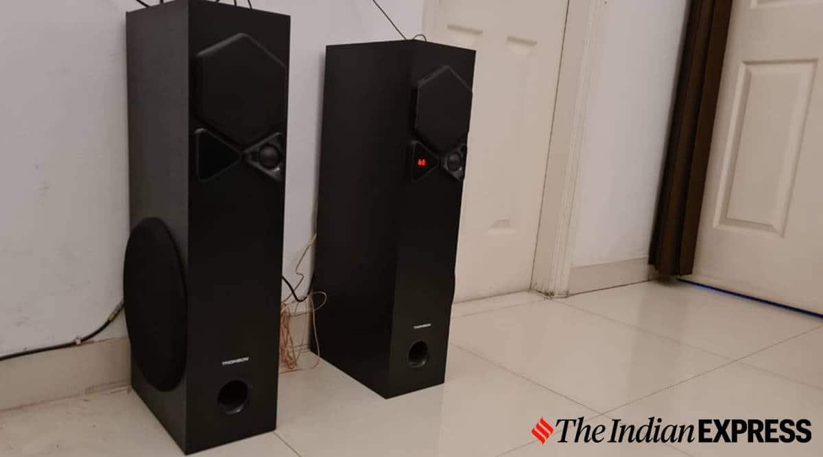 thomson tsp10 tower speaker, thomson tsp10 tower speaker review, thomson tsp10 tower speaker price, thomson tower speaker features, thomson tower speaker music sample