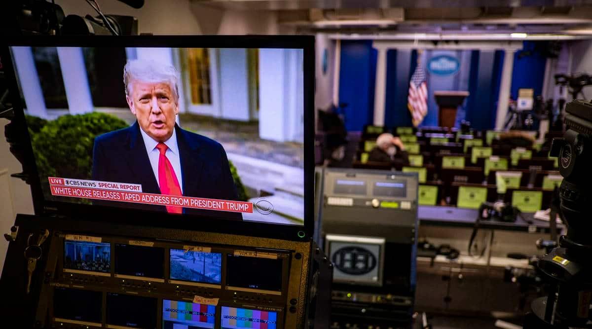 Trump impeachment trial, Donald Trump, US democrats, Joe biden, US senate, world news, Indian express