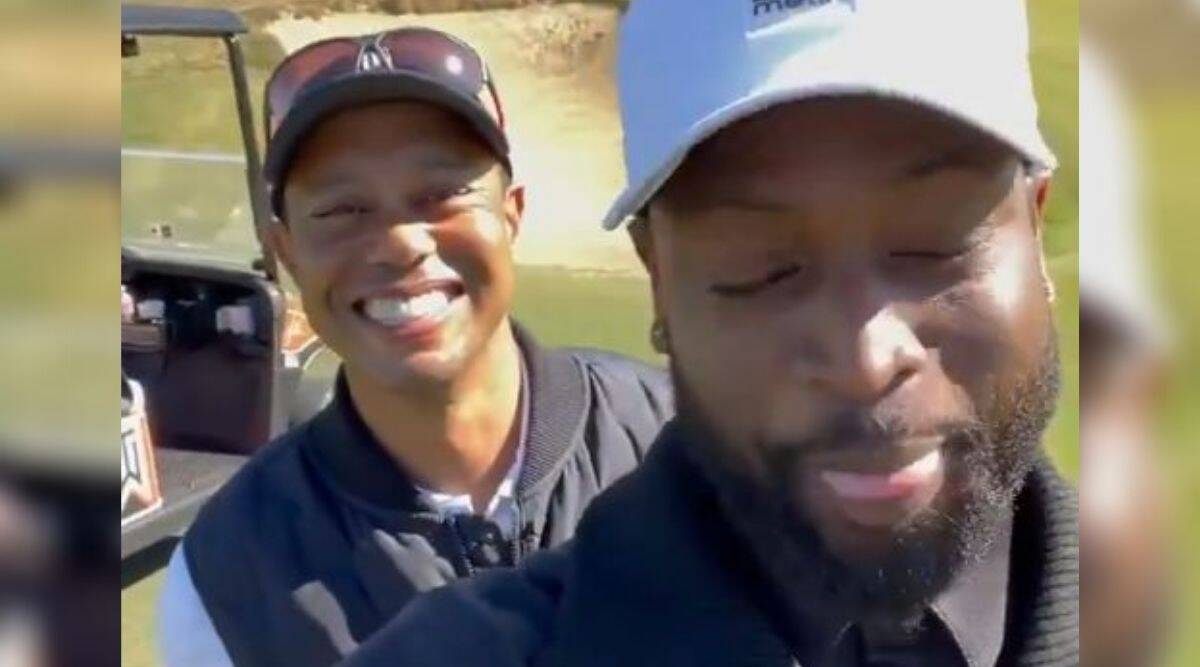 Miami Heat legend Dwyane Wade was with Tiger Woods