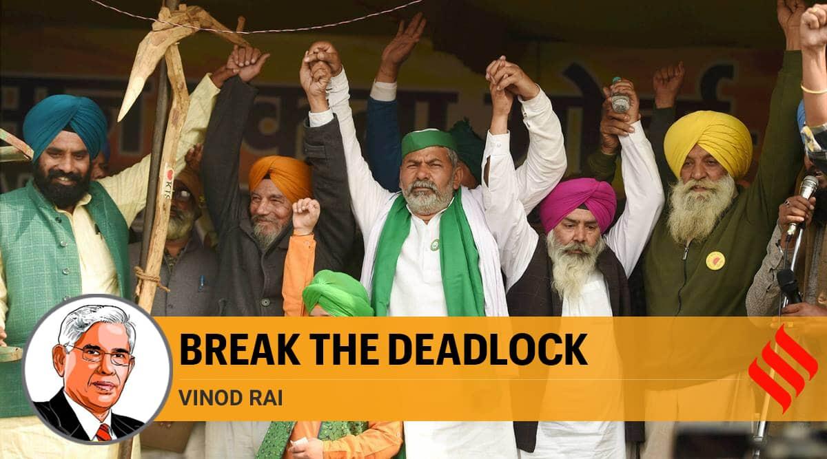 farmers protest, rakesh tikait, rakesh tikait kandela mahapanchayat, Modi on farmers protest, farmers protest news, Farm laws, Vinod Rai writes, indian express column