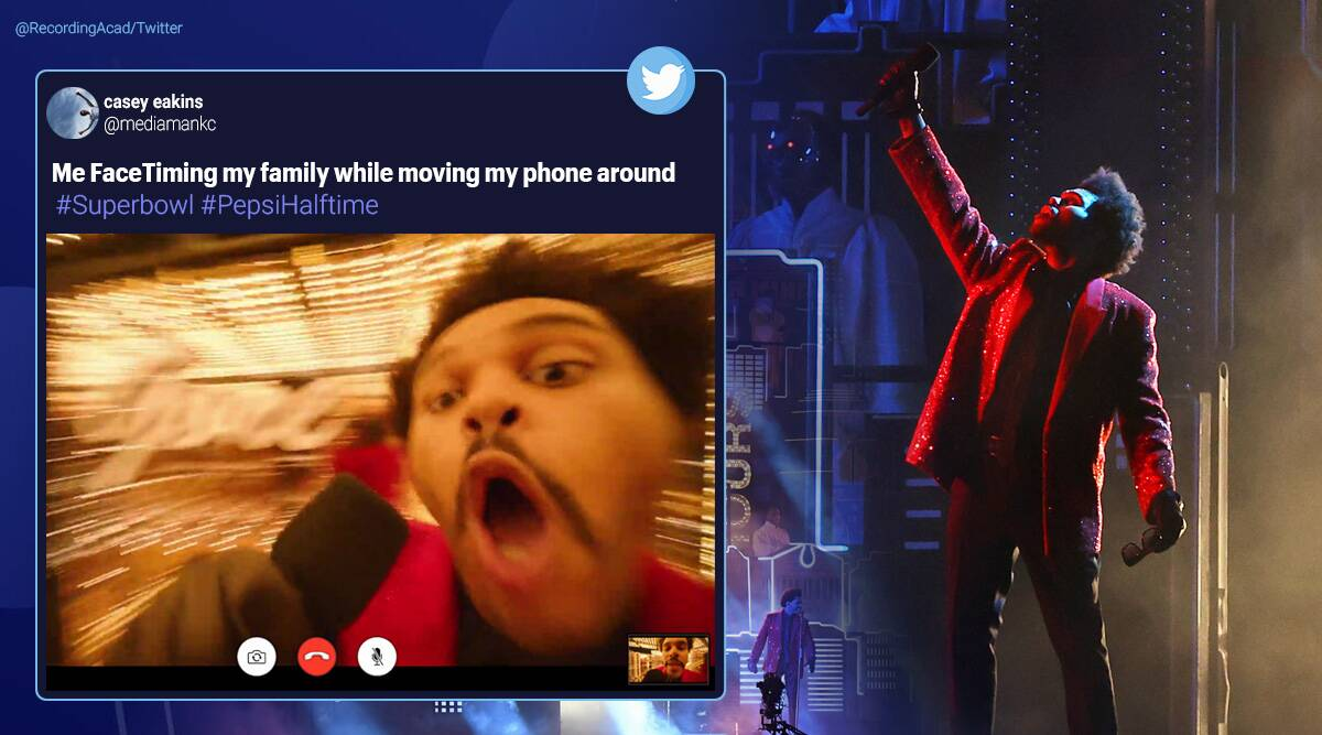 The Weeknd S Super Bowl Performance Sparks Memes Fest Online Trending News The Indian Express