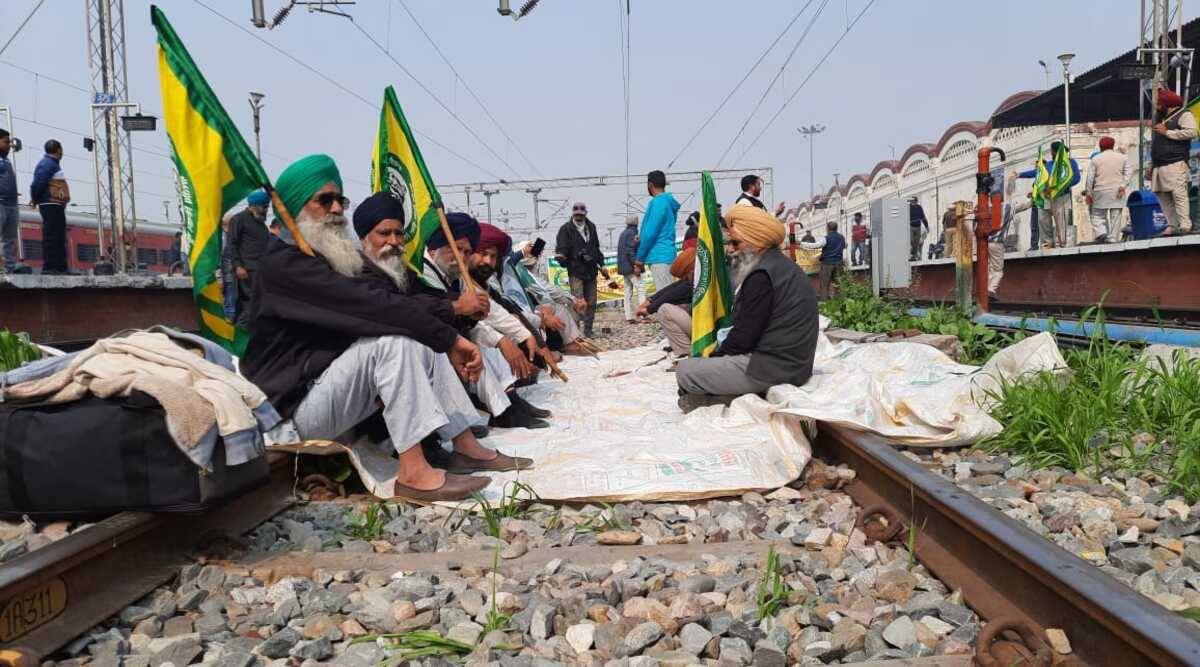 Farmers' 'Rail Roko' Protest Live: Trains stopped in some places as farmers stage protests at stations - The Indian Express