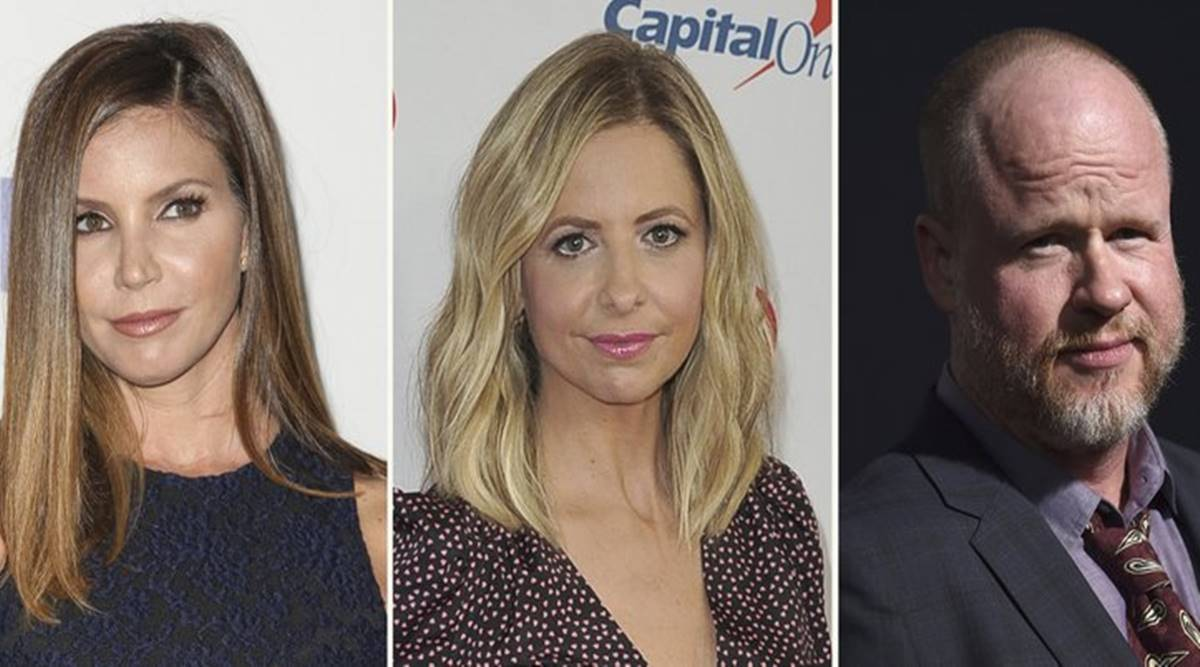 Charisma Carpenter, Sarah Michelle Gellar, and Joss Whedon