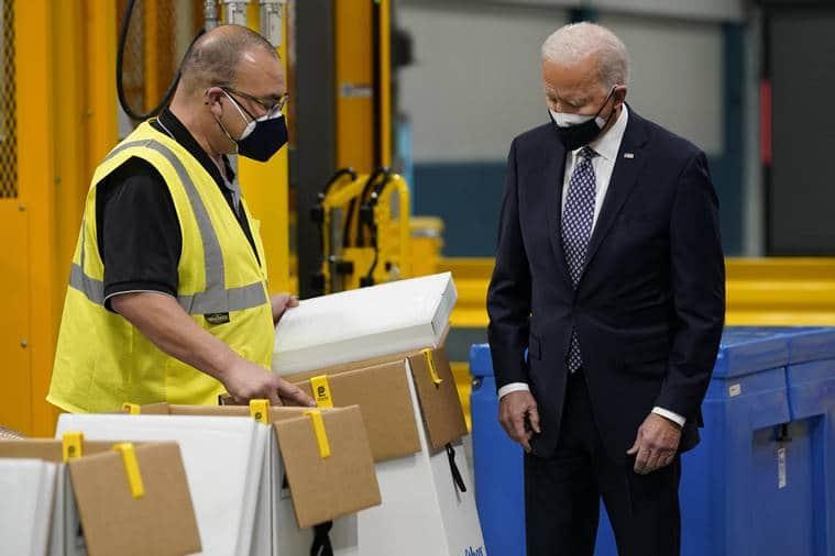 Joe Biden heads to Pfizer plant as weather causes vaccine delays