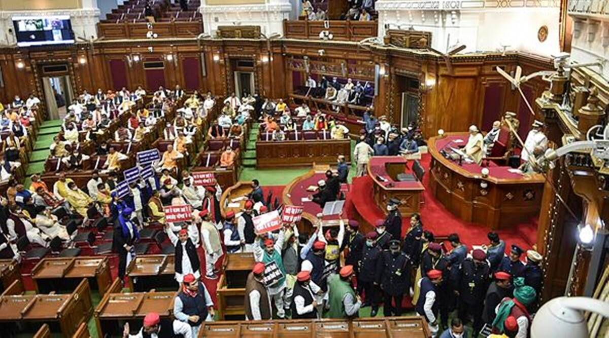 Day 1 of UP Budget session: Oppn boycotts Governor's address, walks out of House