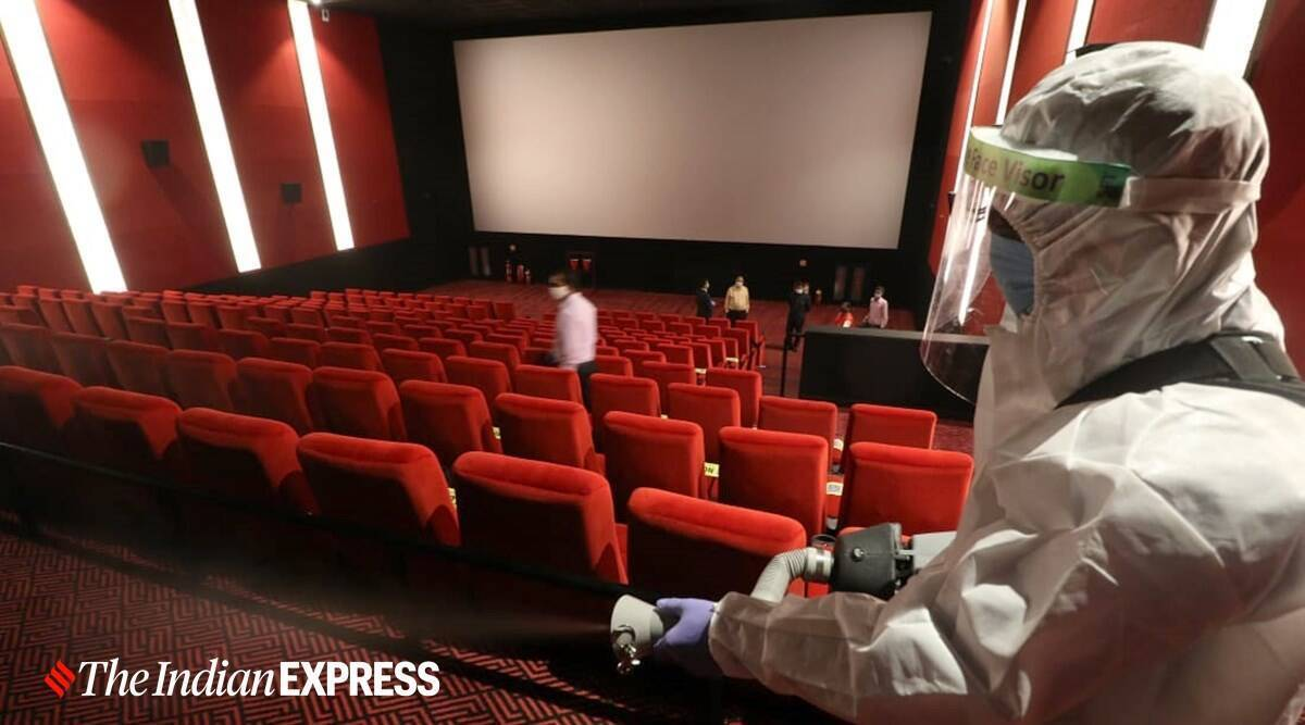 Covid cases dip, full capacity cinema halls, theaters run at full capacity, theaters open, cinema halls open, COronavirus vaccine, Indian express news