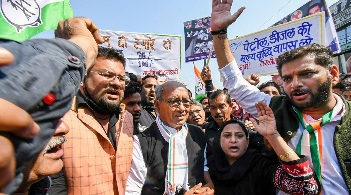 Image result for Congress workers detained during half-day 'bandh' over fuel price