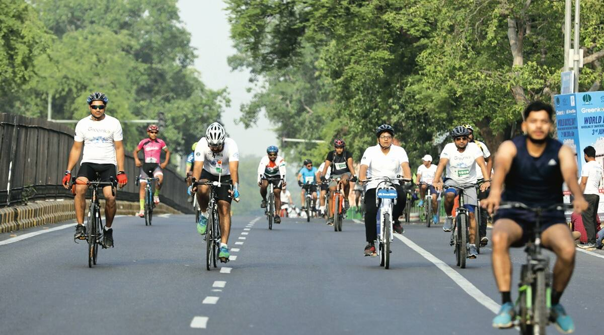Third Ring Road, Delhi cycle walk, DDA, Delhi BJP office, Cyber hubs, Delhi news, Indian express news