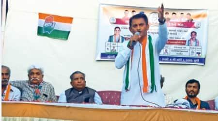 Farm bills, Farm laws, Paresh Dhanani, Gujarat congress, paresh dhanani local body polls campaign, indian express news