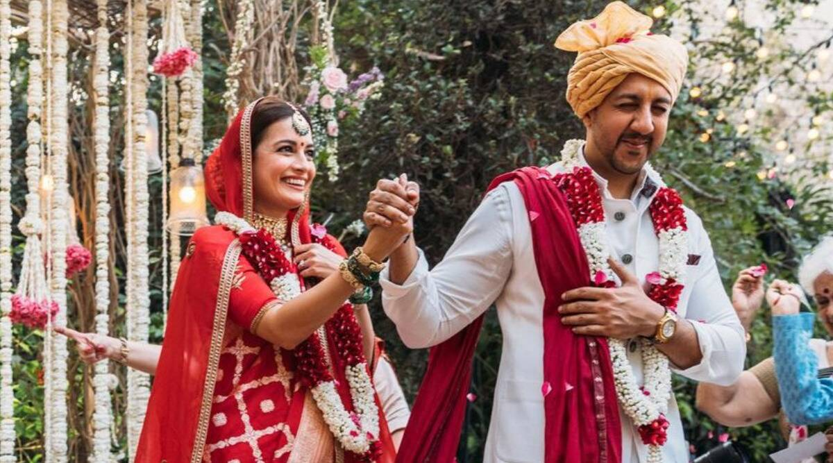 Dia Mirza shares wedding photos with Vaibhav Rekhi: 'Love is a full-circle that we call home' - The Indian Express