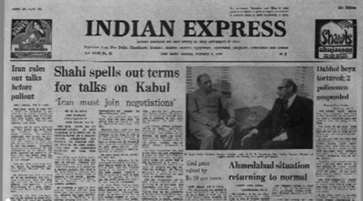 UN Secretary Genera, pak afghan talks, Bohra conference, US forces Persian gulf, forty years ago, indian express news