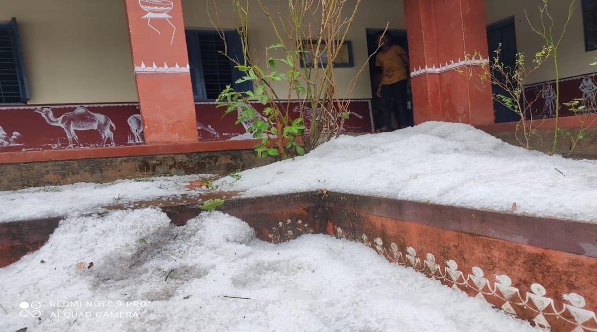 hailstorm, Karnataka rains