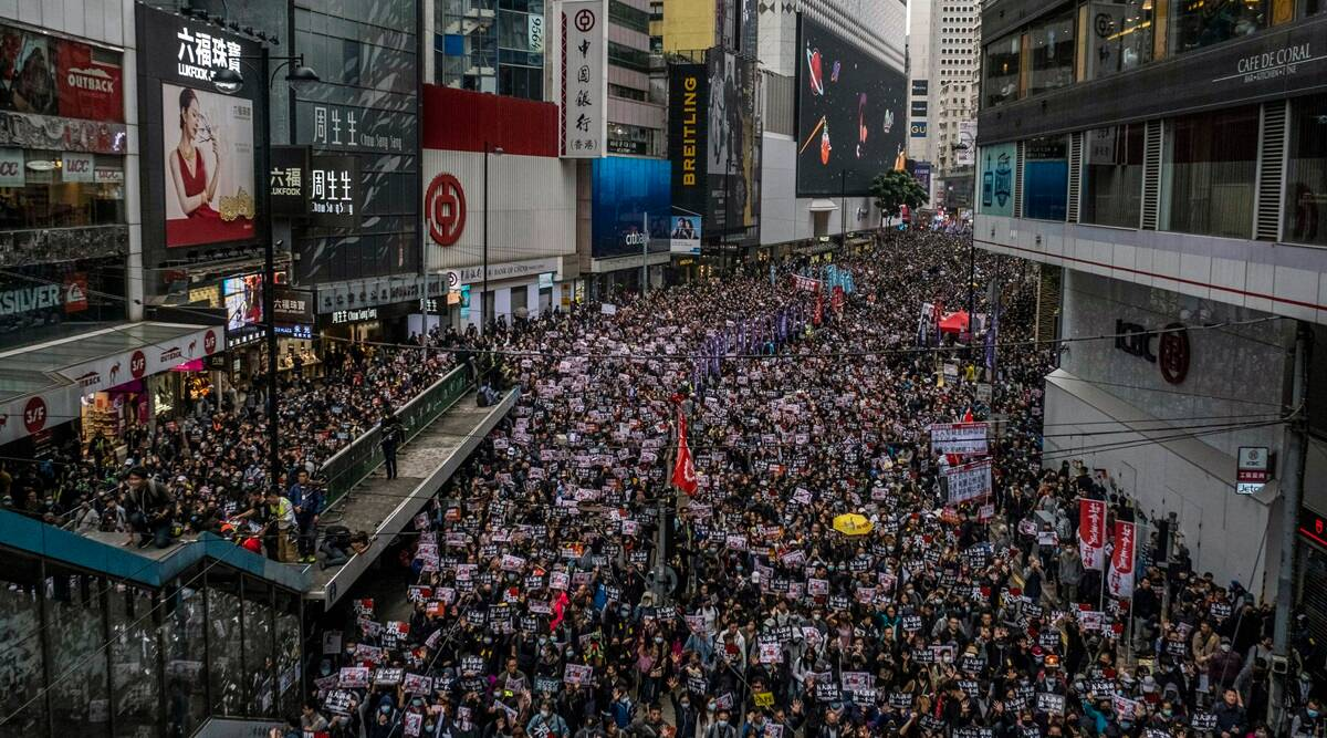 Hong Kong, Hong Kong Police, Hong Kong dissidents, Hong Kong protests, Hong Kong news, Hong Kong crisis, Hong Kong China relations, world news, indian express