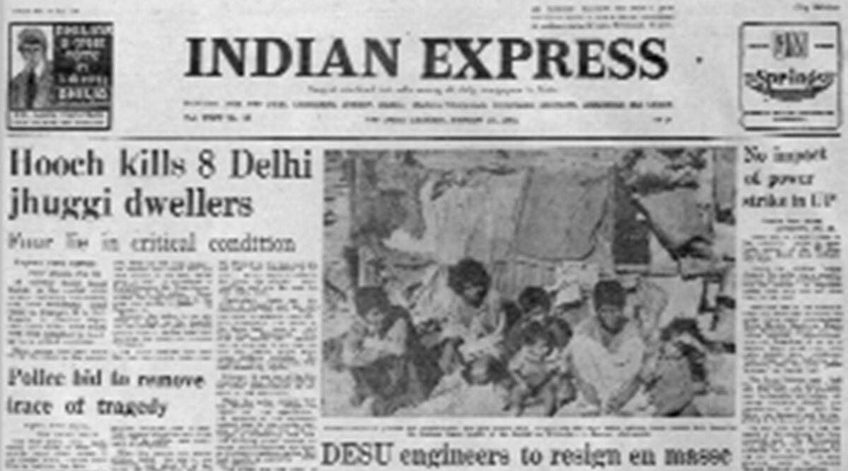 Delhi hooch tragedy, illicit liquor, All-India Power Engineers Federation, assam talks, forty years ago, indian express editorial