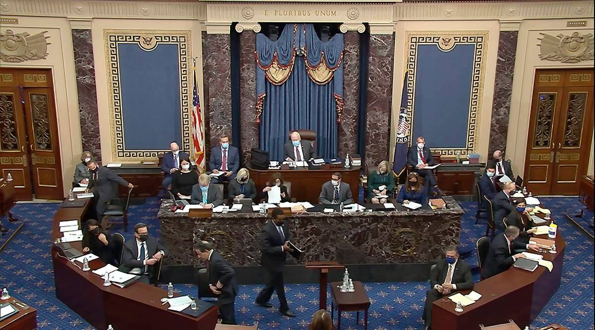 donald trump impeachment, donald trump impeachment trial begins, donald trump impeachment impeachment trial all you need to know, US house senate. trump impeachment, indian express