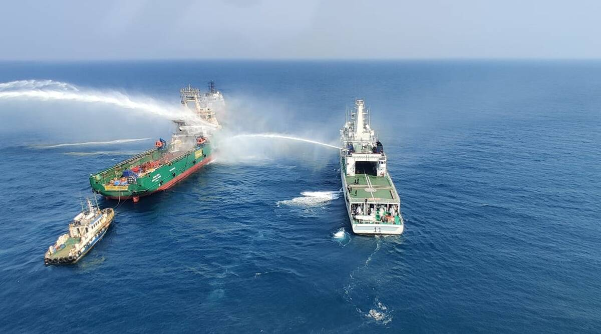 Mumbai: Fire in engine room of offshore vessel Greatship Rohini; three missing, one rescued