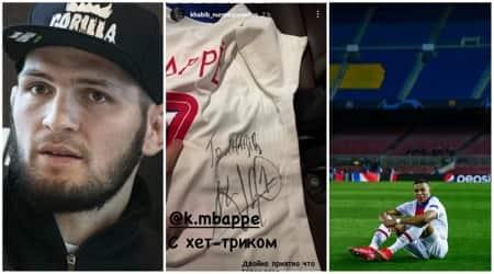 khabib gets mbappe jersey