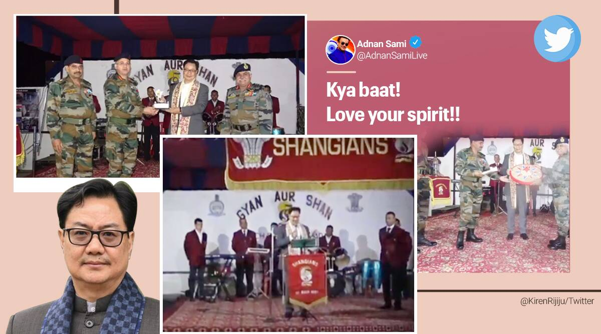 kiren rijiju, kiren rijiju singing, kiren rijiju sing for army, kiren rijiju sing for jawan, dhund song, viral videos, indian express