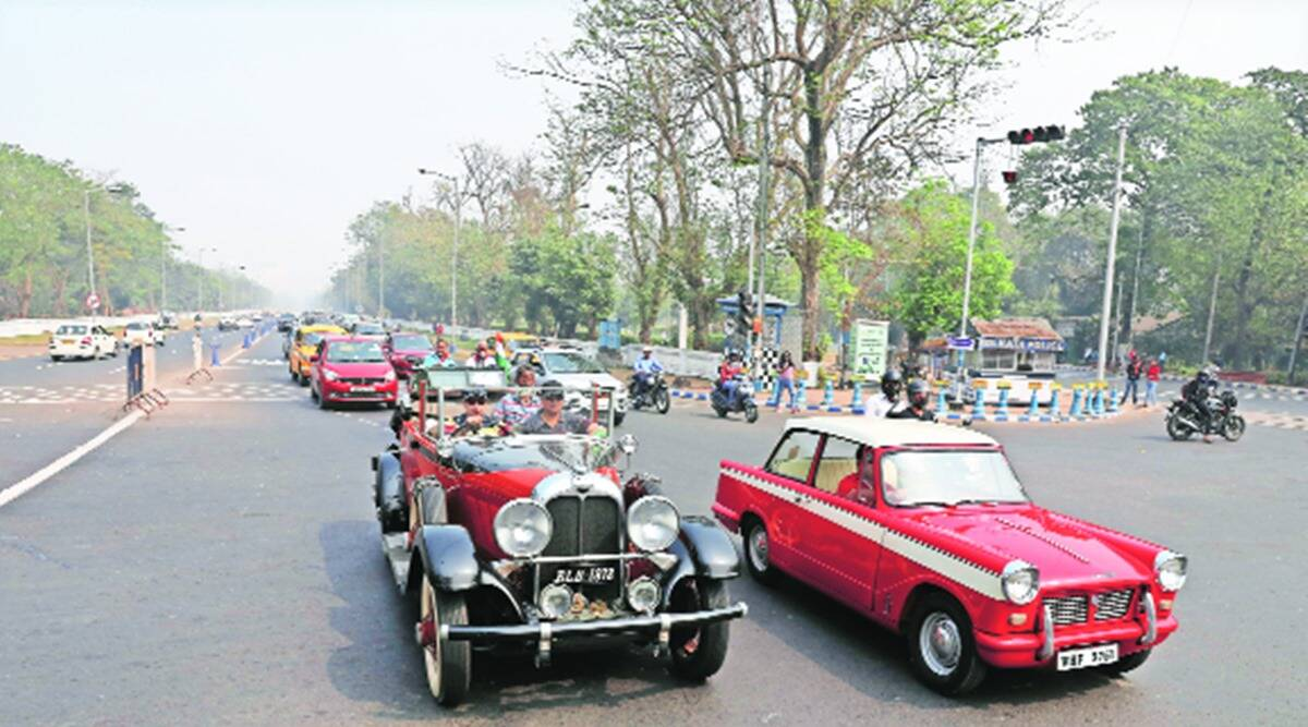 Vintage and classic vehicles take to Kolkata's streets in V-Day event