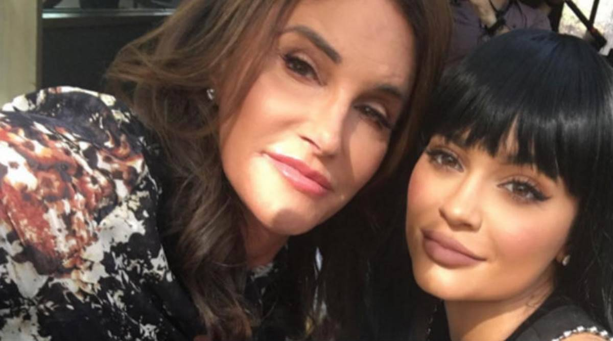 Caitlyn Jenner and Kylie Jenner, Caitlyn Jenner makeup, Caitlyn Jenner transition, Kylie Jenner news, Kylie Jenner and her dad, makeup, indian express news
