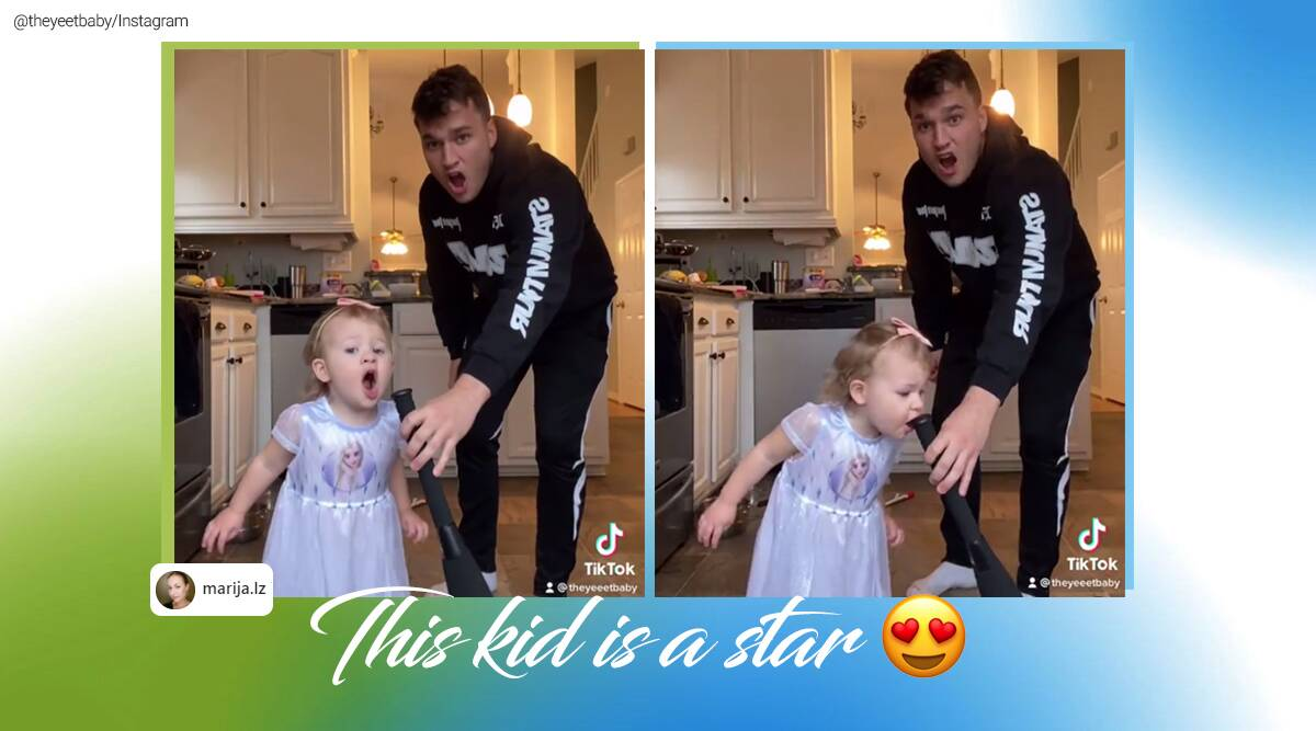 Uncle and niece duet performance, Kid and uncle singing viral video, Let it go duet version, Let it go cover, Frozen let it go cover, Frozen let it go uncle neice version, Frozen let it go chris and Marleigh version, Trending news, Indian Express news.