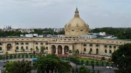 paperless budget, Lucknow budget 2021, Lucknow state assembly laptops, Lucknow news, Indian express