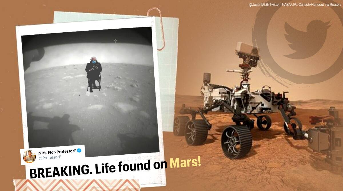 Perseverance S Picture Of Its Forever Home Sparks Memes All The Way From Mars Trending News The Indian Express