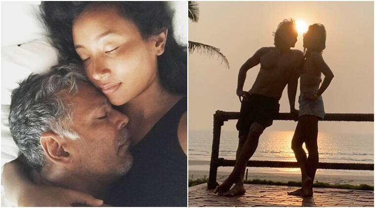 Milind Soman says his favourite place is wife Ankita Konwar's arms as they celebrate anniversary, see photos - The Indian Express