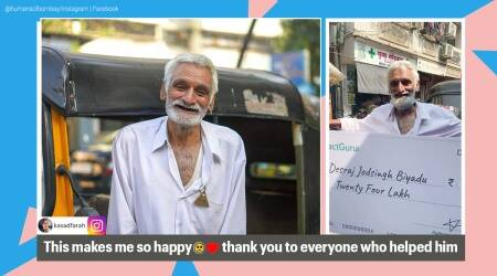 auto driver supports granddaughter education, public raise money for mumabi auto walla, auto driver support family after sons deaths, desraj auto driver mumbai, human of bombay, viral news, indian express news