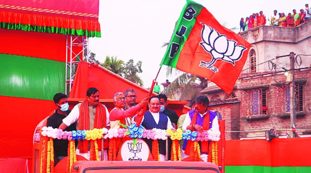 farmer protest, farmers chakka jam, JP nadda, Mamata banerjee, PM-Kisan benefits, JP nadda rath yatra, indian express news