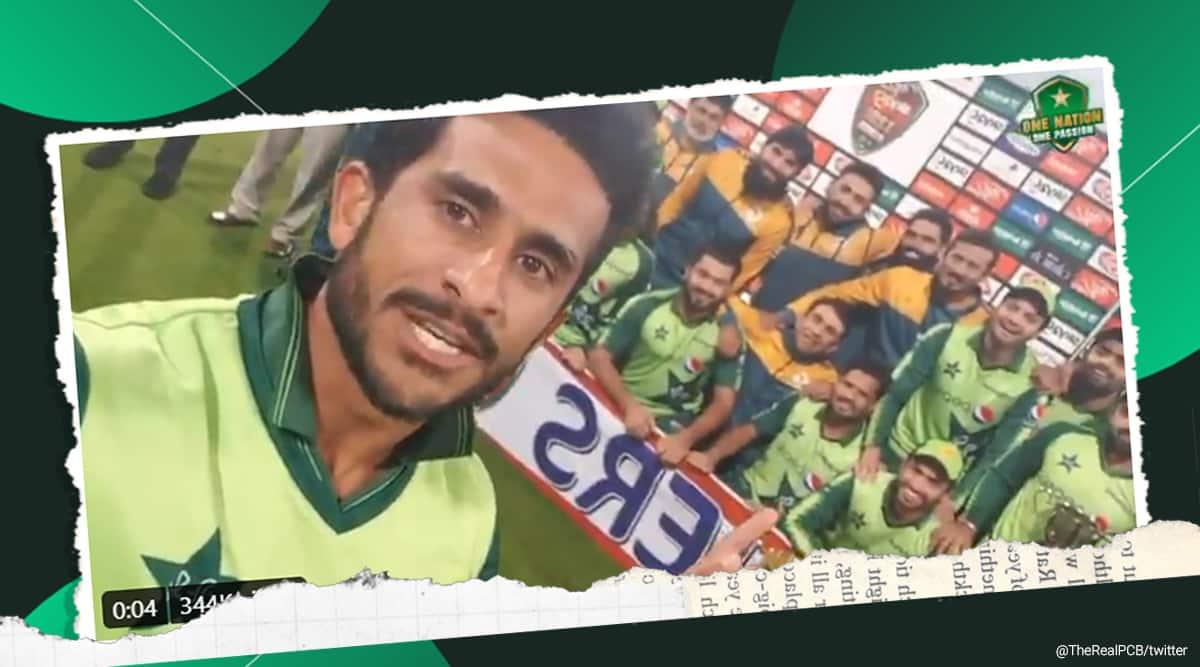 Pakistan cricket team joins 'pawri ho rahi hai' trend; watch pacer Hasan Ali's ROFL version - The Indian Express