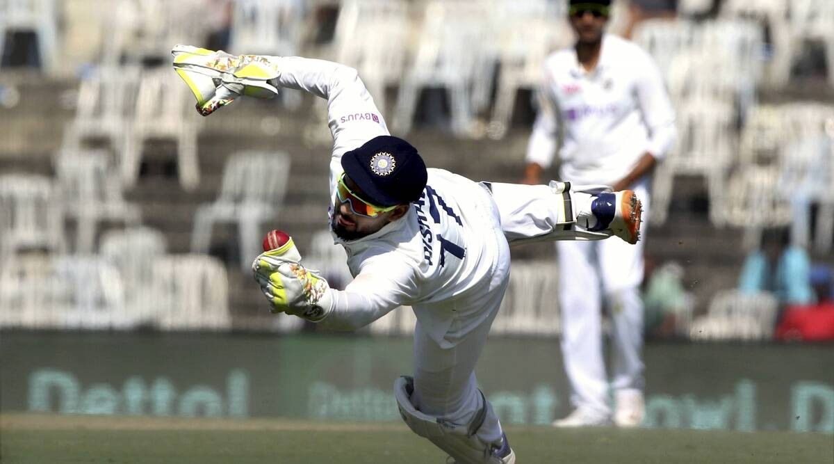"""Over to Pant behind the stumps: """"Ollie Pope ko lollipop"""" - The Indian Express"""