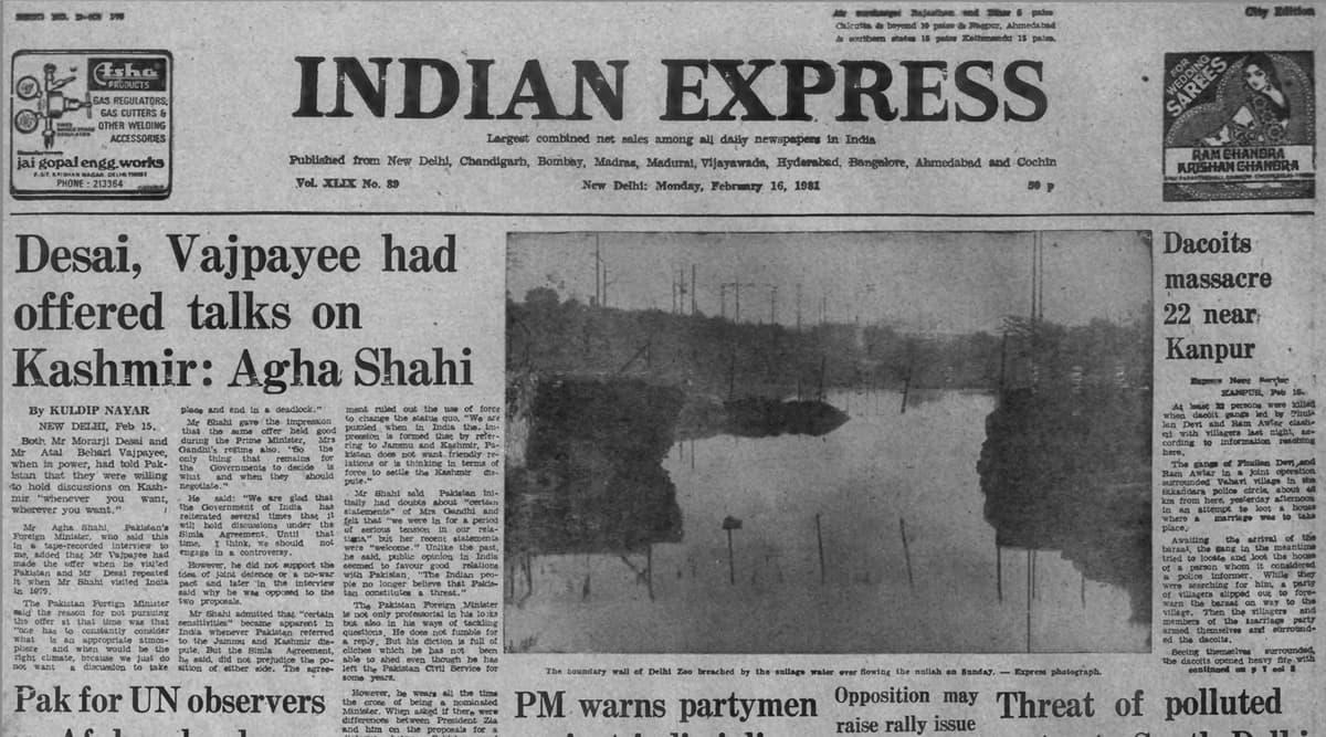 Atal Bihari Vajpayee, Morarji Desai, talks with Pakistan, Kashmir issue, Forty Years Ago, Indian express news