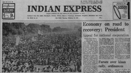 Sanjeeva Reddy, President's address, budget session, joint Parliament session, Forty Years Ago, Indian express news