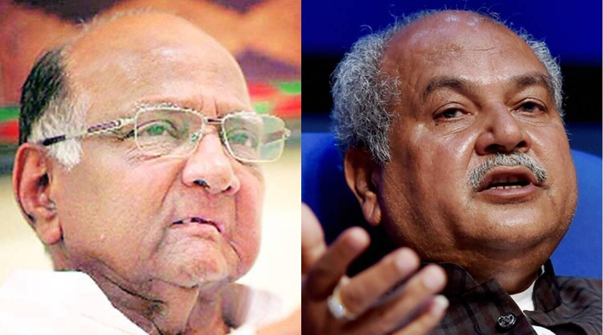 Farm laws, Narendra Singh Tomar, Agriculture Minister, Sharad Pawar, Farmers protest, NCP, Indian express news