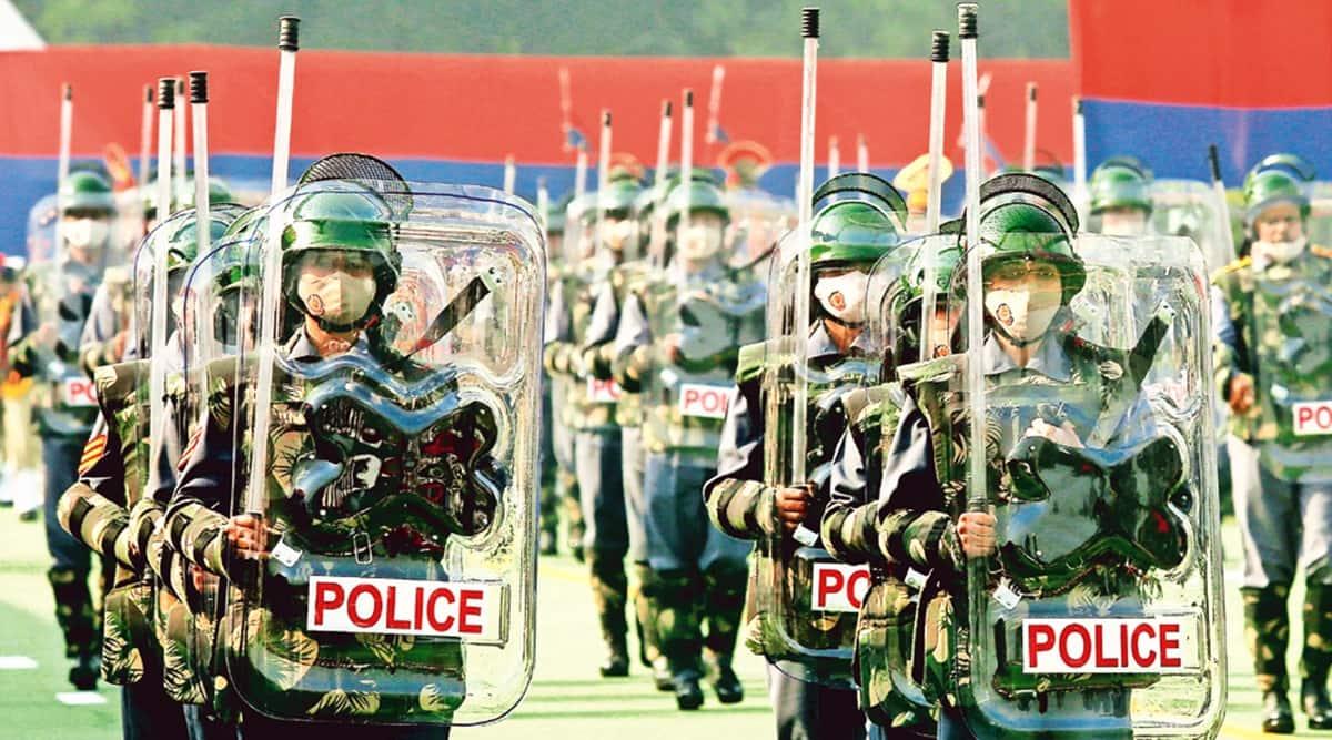 Delhi Police Raising Day Parade, NE Delhi riots, red fort violence, Delhi Police, Delhi news, Indian express news