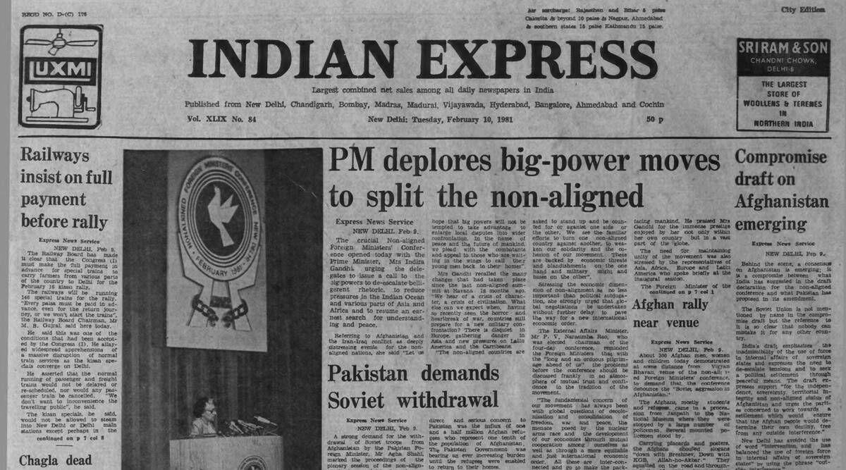 NAM meet, non-aligned foreign ministers conference, Iran-Iraq war, Afghanistan, WOrld peace, war, geo politics, Forty Years Ago, Indian express news