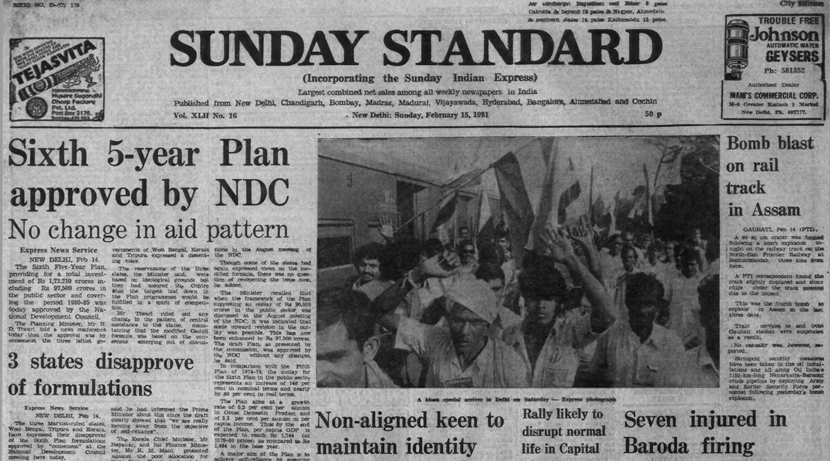 Sixth Five-Year Plan, Planning Commission, NDC, N D Tiwari, Forty Years Ago, Indian express news