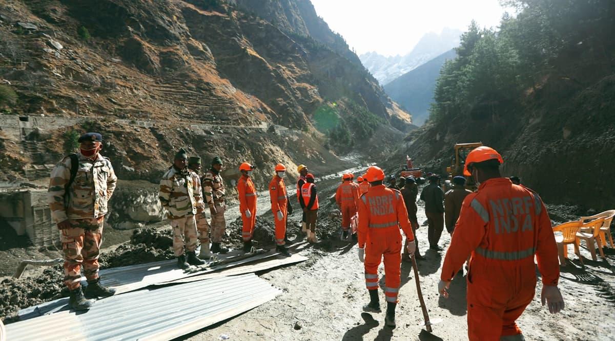 Raini village, Rescue officials, Uttarakhand flash floods, Uttarakhand news, Indian express news
