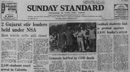 Bharat Narain arrest, Gauhati school students protest, AASU, Student fasting, Forty Years Ago, Indian express news