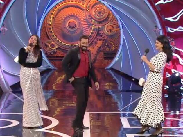 salman khan fun moments raveena jacqueline bigg boss 14