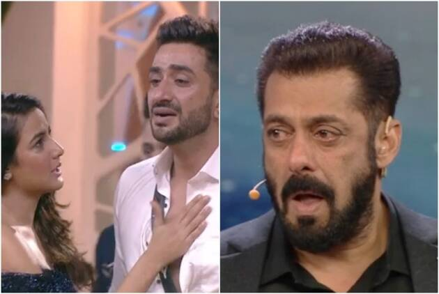 salman khan crying bigg boss 14 jasmin eviction