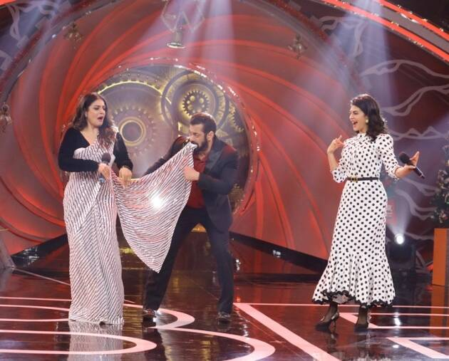 salman khan raveena jacqueline on bigg boss season 14