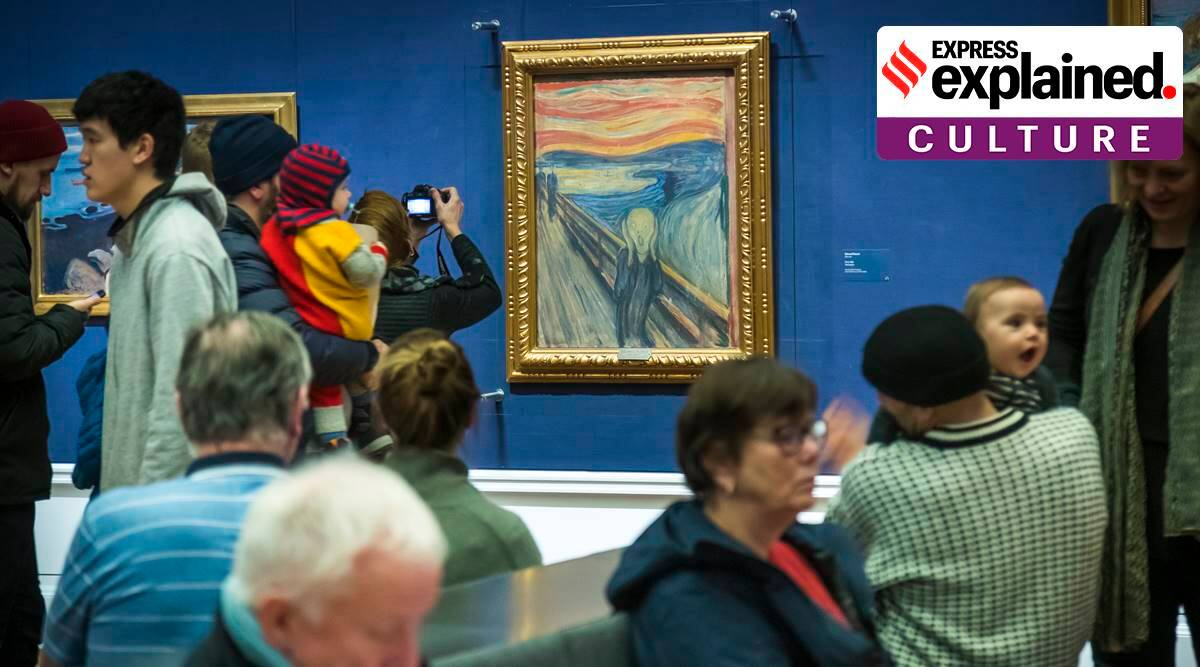 Edvard Munch The Scream, The Scream new findings, The Scream Munch scribbling, Norway National Museum, artworks with hidden messages, express explained, indian express