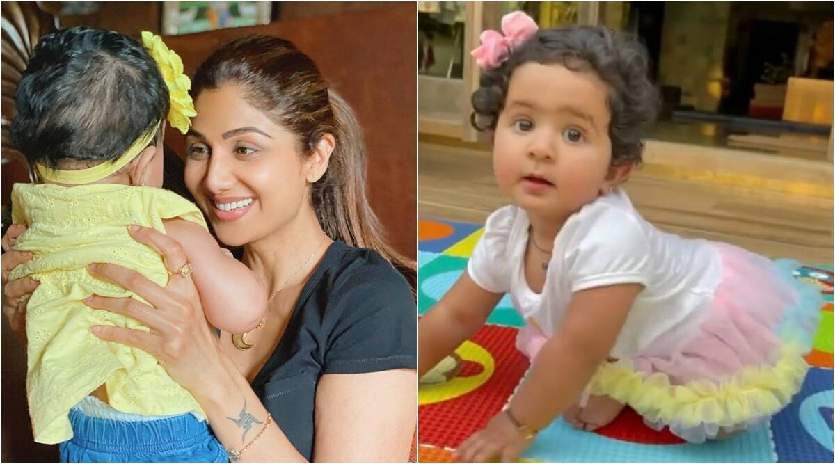 Shilpa Shetty celebrates daughter Samisha's first birthday by celebrating her words 'Mumma', watch video - The Indian Express