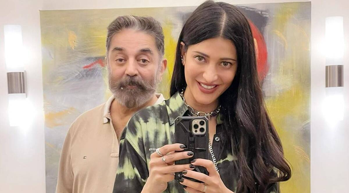 Shruti Haasan is spending quality time with 'Daddy dearest' Kamal Haasan, see photos - The Indian Express